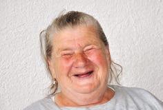 Alte gealterte weibliche Person stockbild