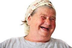 Alte gealterte weibliche Person stockfotografie