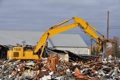 Alte Gebäude-Demolierung Stockfoto