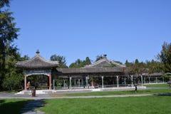 Alte Gebäude in Tiantan Stockbild