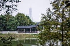 Alte Gebäude und Bambus Lizenzfreie Stockbilder