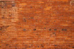Alte Gebäudewand des roten Backsteins Lizenzfreie Stockfotos