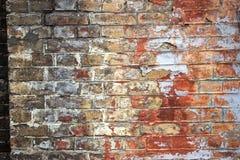 Alte gebrochene Backsteinmauerbeschaffenheit Lizenzfreie Stockfotos