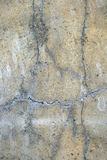 Alte gebrochene Betonmauer Stockfoto