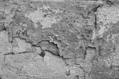 Alte gebrochene Betonmauerbeschaffenheit Stockbilder