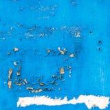 Alte gebrochene blaue Beschaffenheit der Farbe und der Wand Stockfotografie
