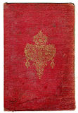 Alte gebrochene Buchbeschaffenheit mit dekorativem Feld Stockbilder