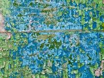 Alte gebrochene Farbenschmutz-Weinlesebeschaffenheit auf einer hölzernen Wand Stockbild