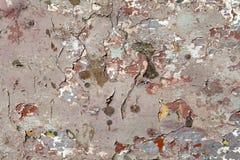 Gebrochene Malerarbeiten Stockfotografie