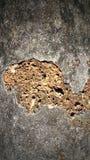 Alte gebrochene Wand Stockfotografie