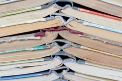 Alte gebundene Bücher des Stapels Lizenzfreie Stockfotografie