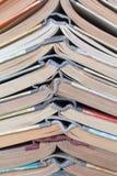 Alte gebundene Bücher des Stapels Lizenzfreie Stockfotos