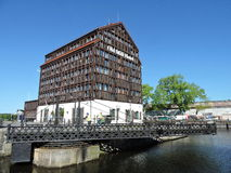 Alte gedrehte Brücke, Litauen Lizenzfreie Stockfotos
