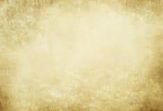 Alte gelb gefärbte befleckte Papierbeschaffenheit Lizenzfreie Stockfotografie