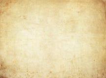 Alte gelb gefärbte Papierbeschaffenheit oder Hintergrund Stockfotografie