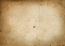 Alte gelb gefärbte und befleckte Papierbeschaffenheit Lizenzfreie Stockfotografie