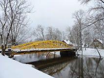 Alte gelbe Brücke, Litauen Lizenzfreies Stockfoto