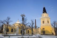Alte gelbe Kirche Lizenzfreie Stockbilder