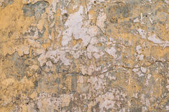Alte gelbe Wand Lizenzfreies Stockbild