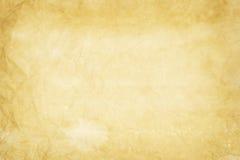 Alte gelbliche Papierbeschaffenheit Stockfotografie