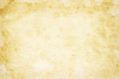 Alte gelbliche Papierbeschaffenheit Lizenzfreies Stockfoto