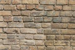 Alte gemalte Backsteinmauerhintergrundbeschaffenheit Stockfotos