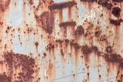Alte gemalte Beschaffenheit des Rosts Blechtafel Stockfoto