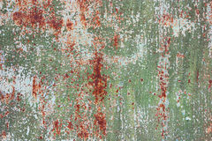 Alte gemalte Beschaffenheit des Rosts Blechtafel Stockfotografie