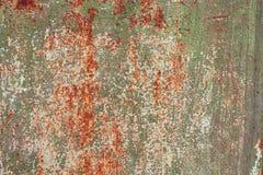Alte gemalte Beschaffenheit des Rosts Blechtafel Stockbild