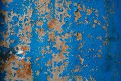 Alte gemalte blaue strukturierte grungy Wand Stockfotografie