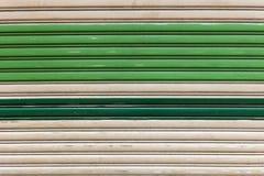 Alte gemalte gewölbte Metalltür Lizenzfreies Stockbild