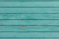 Alte gemalte hölzerne Wand - Beschaffenheit oder Hintergrund Lizenzfreies Stockfoto