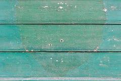 Alte gemalte hölzerne Wand - Beschaffenheit oder Hintergrund Lizenzfreies Stockbild