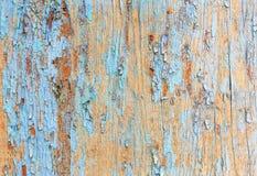 Alte gemalte hölzerne Wand - Beschaffenheit oder Hintergrund Stockfotografie