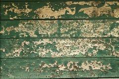 Alte gemalte hölzerne Wand Grünen Sie Beschaffenheitshintergrund Stockfotos