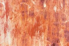 Alte gemalte Metallbeschaffenheit mit Spuren des Rosts Lizenzfreie Stockfotos