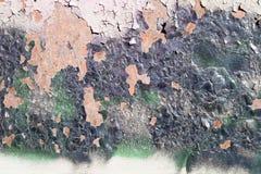 Alte gemalte Metallbeschaffenheit mit Spuren des Rosts Stockbild