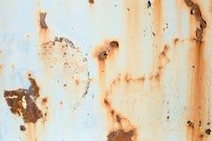 Alte gemalte Metallbeschaffenheit mit Spuren des Rosts Lizenzfreies Stockfoto