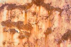 Alte gemalte Metallbeschaffenheit mit Spuren des Rosts Lizenzfreies Stockbild