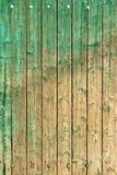 Alte gemalte Planken Stockbilder