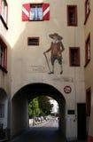 Alte gemalte Stadtwand in Deutschland Stockfotos