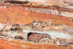 Alte gemalte synthetische Oberfläche mit Kratzern und Sprüngen, Hintergrund/Beschaffenheit Stockfoto