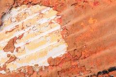 Alte gemalte synthetische Oberfläche mit Kratzern und Sprüngen, Hintergrund/Beschaffenheit Lizenzfreie Stockfotos