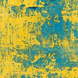 Alte gemalte Wand - Beschaffenheit oder Hintergrund Lizenzfreie Stockfotos