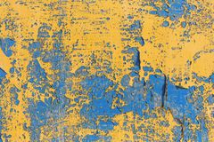 Alte gemalte Wand - Beschaffenheit oder Hintergrund Stockfotografie