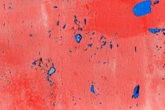 Alte gemalte Wand - Beschaffenheit oder Hintergrund Stockfoto