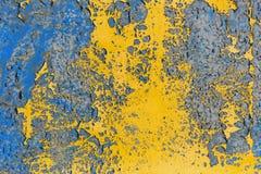 Alte gemalte Wand - Beschaffenheit oder Hintergrund Stockbilder