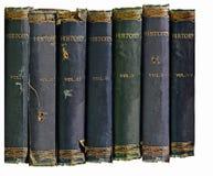 Alte Geschichtsbücher   Lizenzfreies Stockfoto