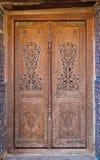 Alte geschnitzte Tür Stockbild
