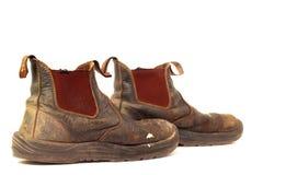 Alte getragene heraus lederne Matten der schmutzigen Arbeit Lizenzfreie Stockfotografie